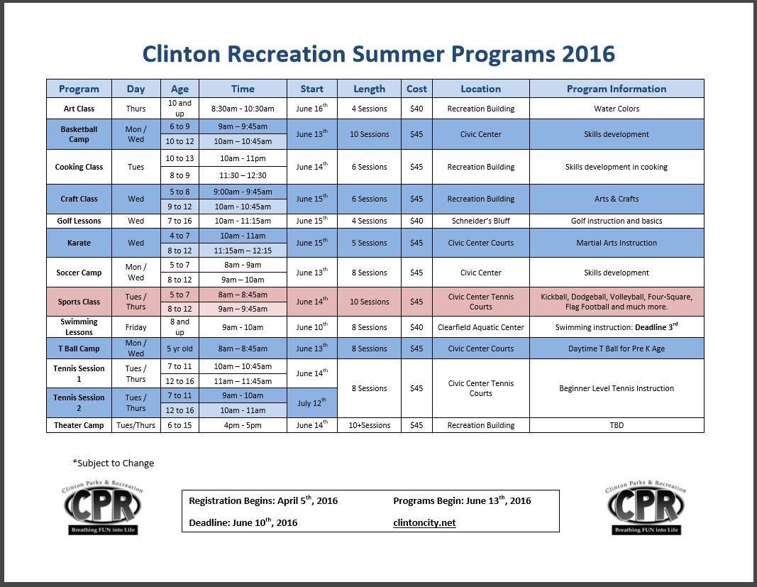 Summer Programs 2016 image
