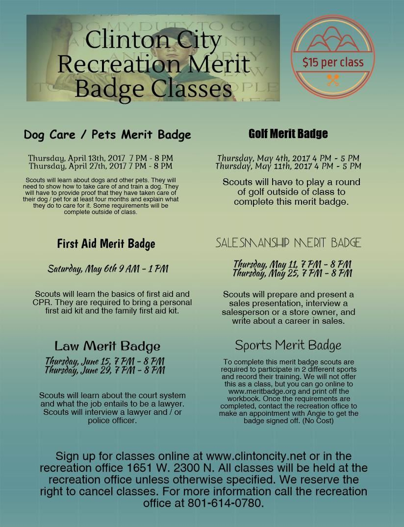 Spring 2017 Merit Badge