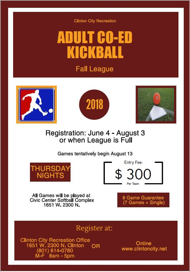 Fall Kickball Flyer 2018