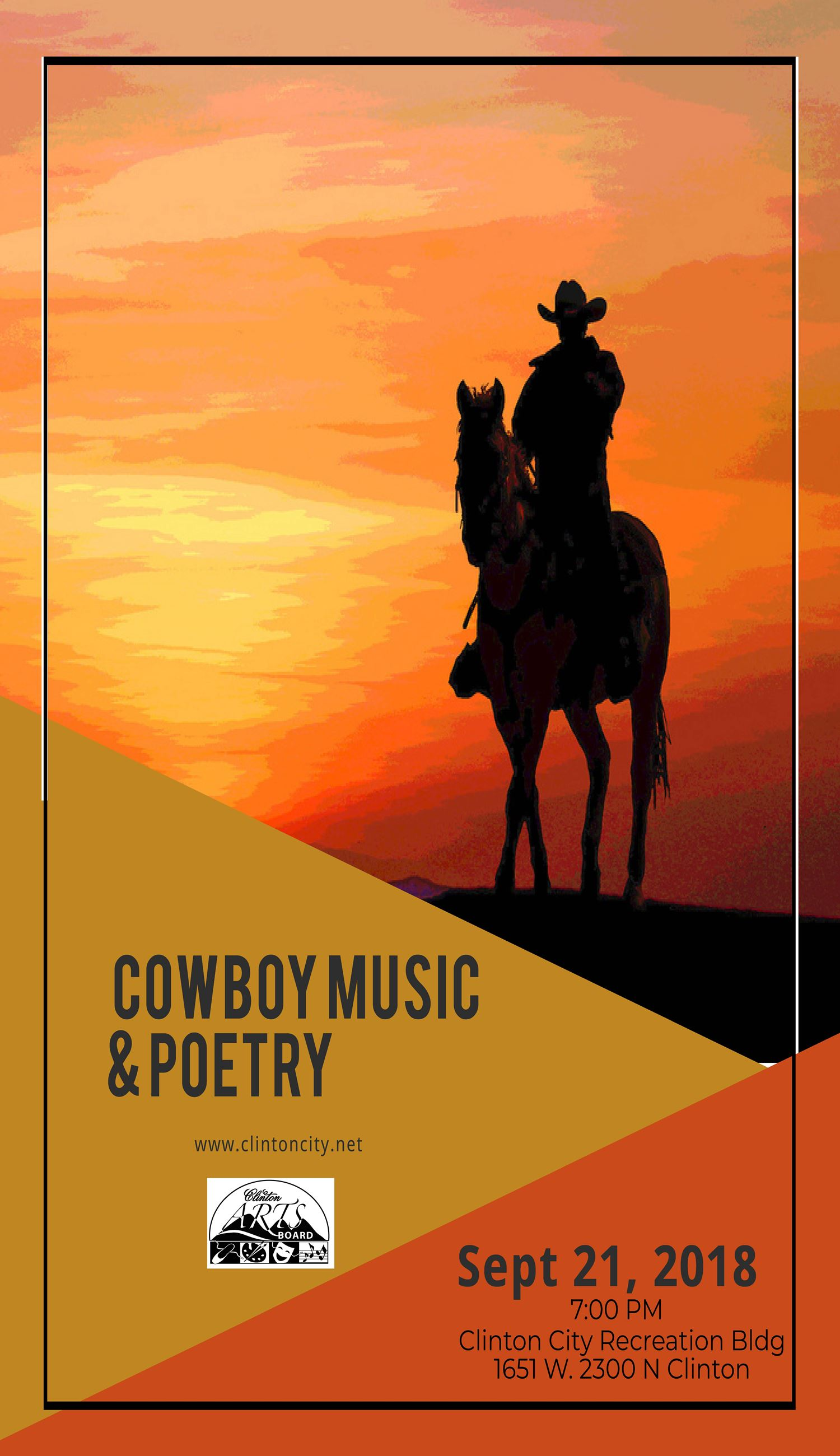 Cowboy music and Poetry flier 2018